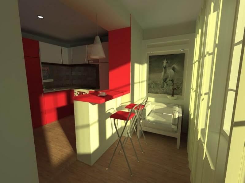 кухня с барной стойкой дизайн