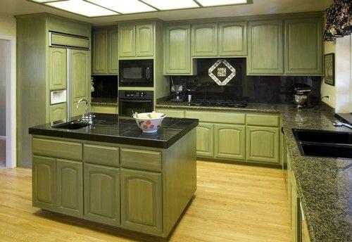 кухни зеленого цвета