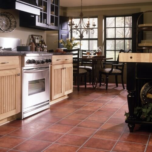 ламинат под плитку в кухню