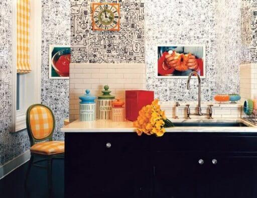 обои для кухни комбинированные пэчворк фото