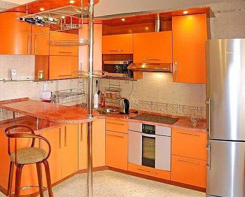 Планировка кухни площадью 9 кв.м.