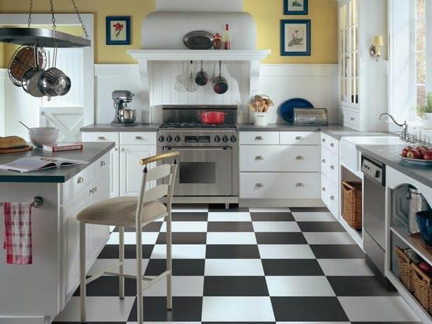 Керамическая плитка как напольное покрытие для кухни