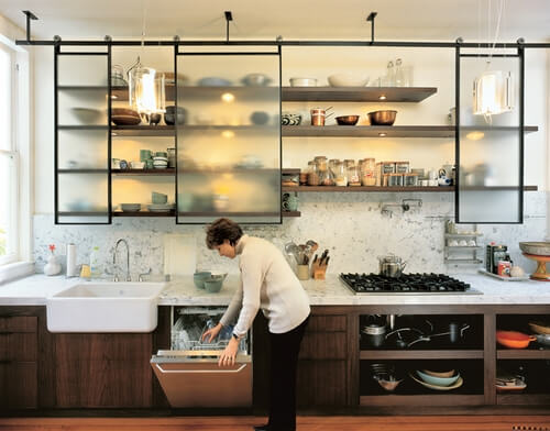 полки для кухни с ширмами