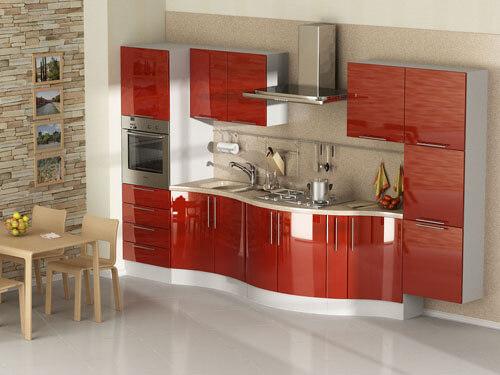 Кухни с радиусными фасадами фото