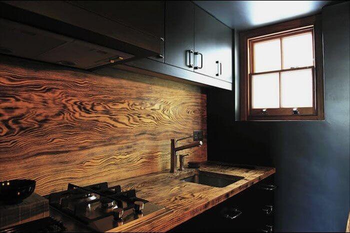 стеновые панели на кухню фартук под дерево