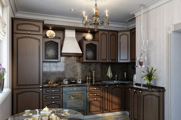 dark and white kitchen cabinets покраска стен на кухне фото 8552