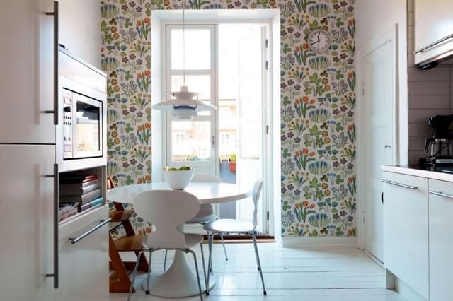 виниловые обои для кухни комбинированные фото