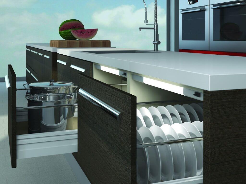 Подсветка шкафов в кухонном интерьере