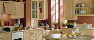 кухня кремовая фото