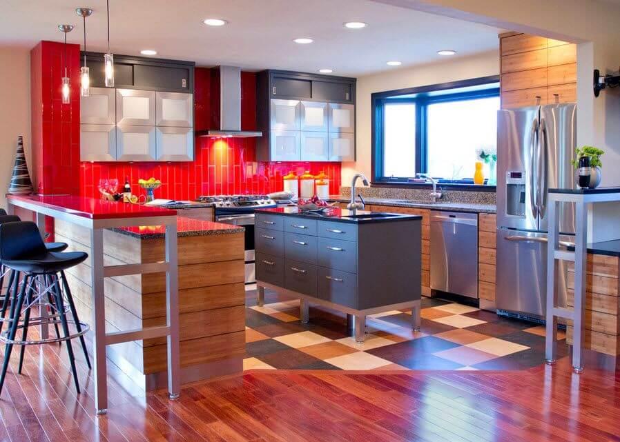 линолеум в кухе