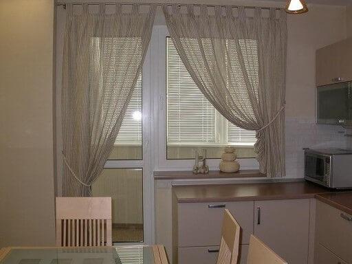 шторы сетка для кухни