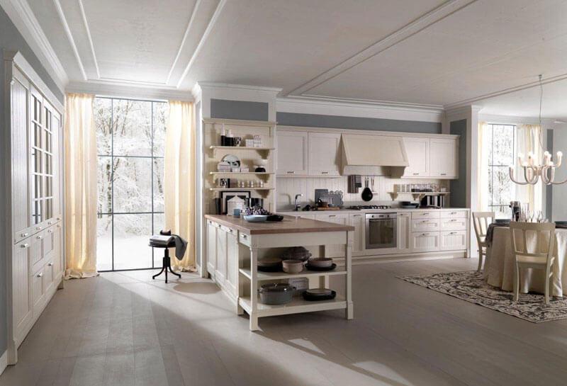 кухня с полками