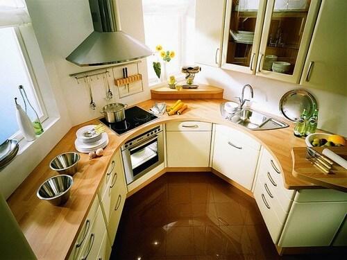 дизайн кухни нестандартной планировки