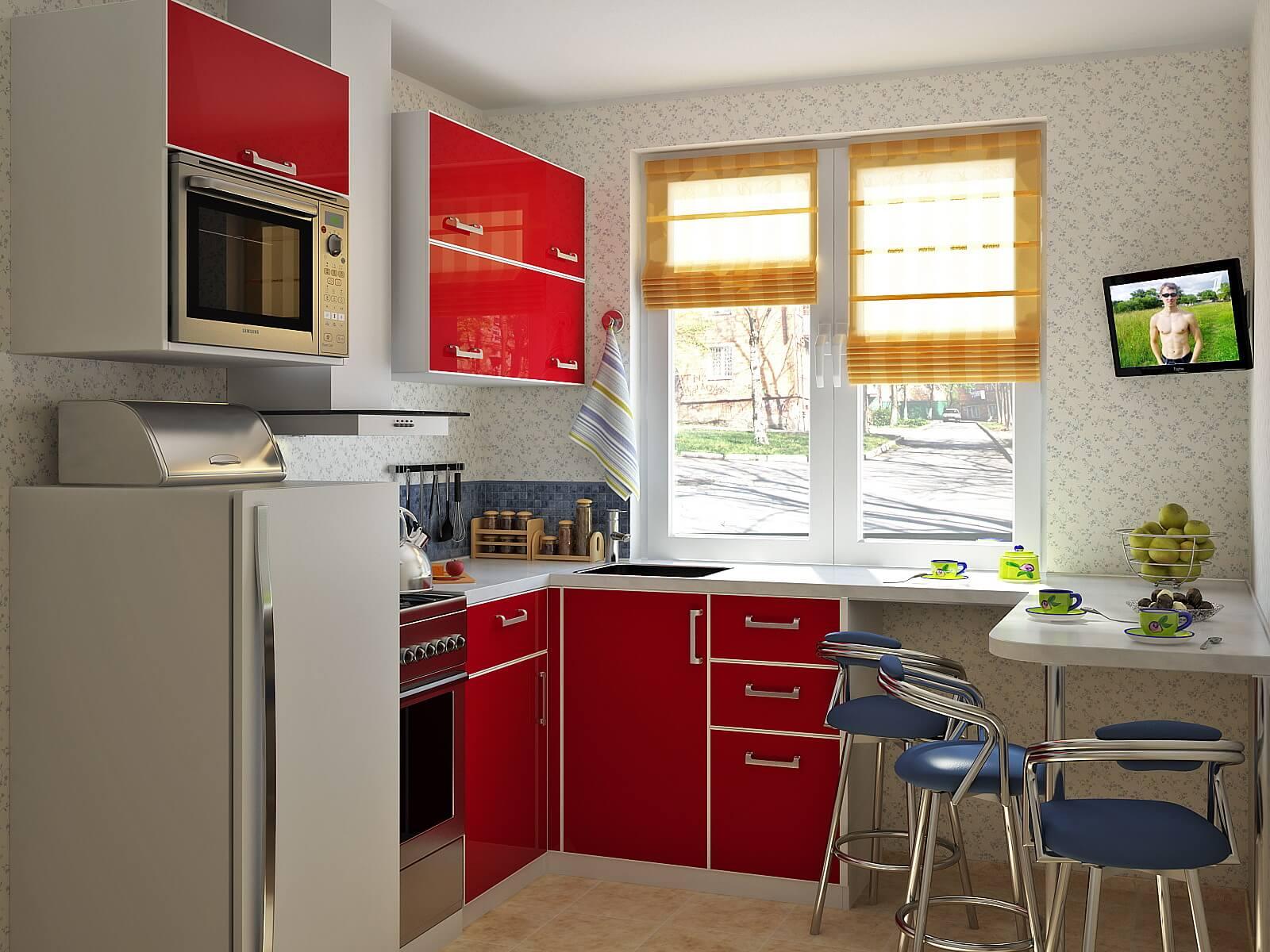 кухня 5 метров фото планировка