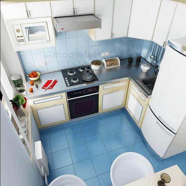 кухня 5 метров планировка фото