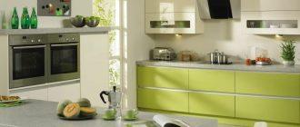 акцент на кухонных ящиках