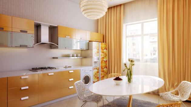 гардины на кухню фото