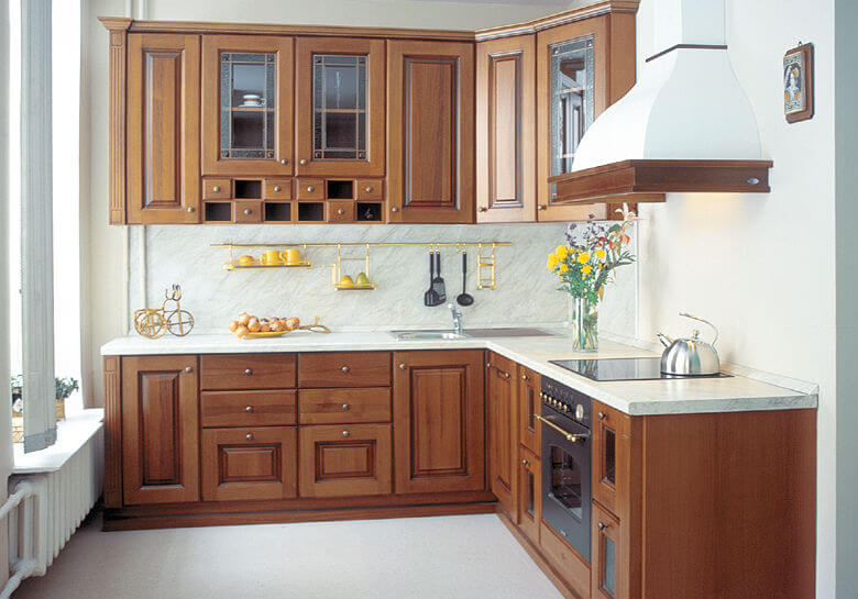 г-образная угловая кухня