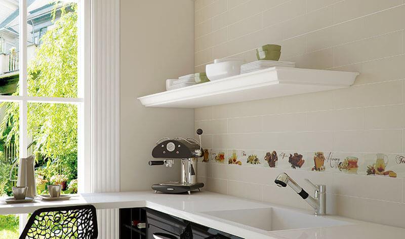 дизайн кухни мойка керамогранит
