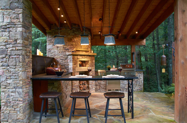 дизайн летней кухни фото