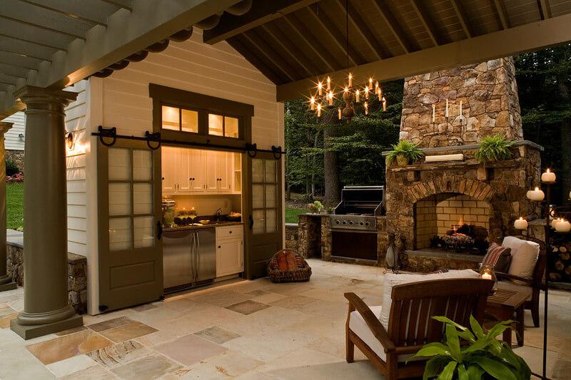 летняя кухня с мангалом
