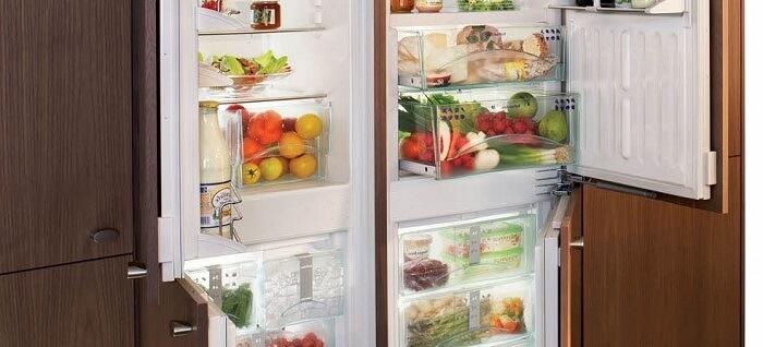 холодильник встроенный фото