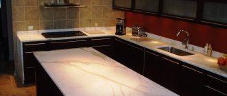 мраморная столешница для кухни