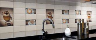 Плитка для кухни фартук очень гармонично дополняет дизайн