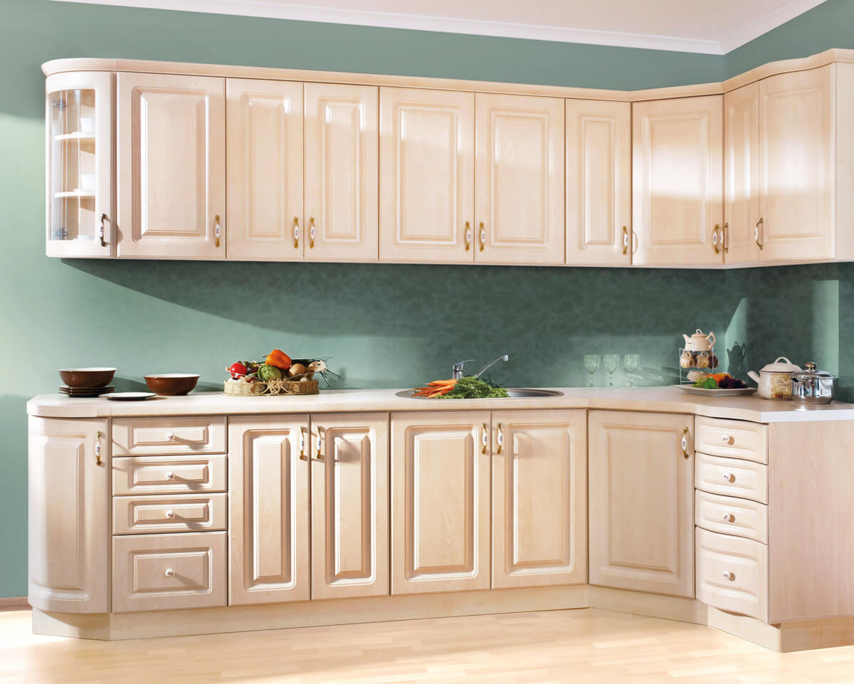 угловые навесные шкафы кухня