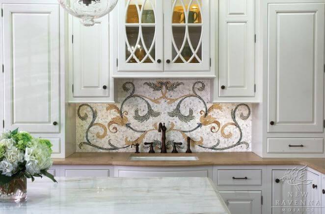 панно для кухни мозаичное