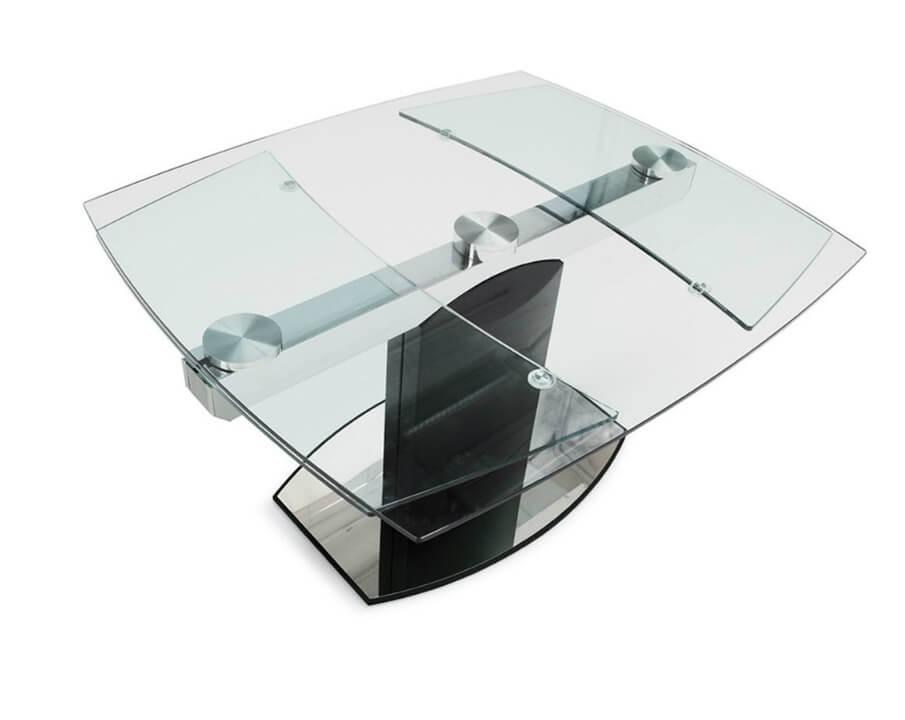 Необычная форма столешницы стеклянной для кухни