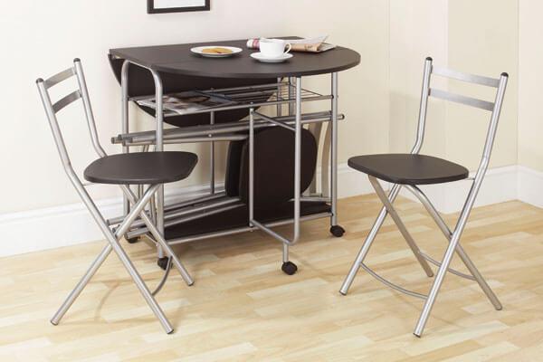 круглый стол для маленькой кухни фото