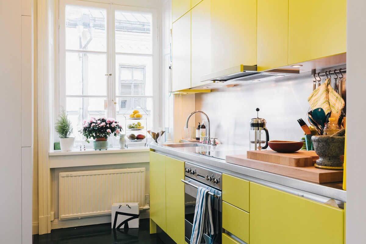 решение для маленькой кухни фото